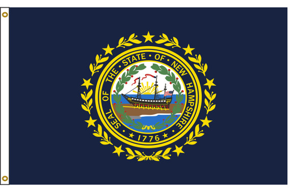 New Hampshire 3'x5' Nylon State Flag 3ftx5ft