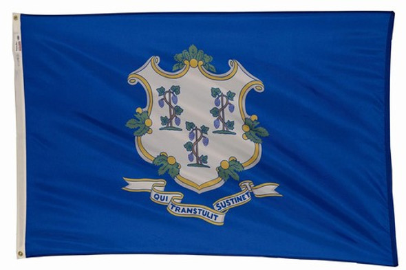 Connecticut State Flag 8x12 Feet Spectramax Nylon by Valley Forge Flag 82222070