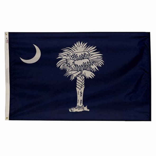 South Carolina State Flag 5x8 Feet Spectramax Nylon by Valley Forge Flag 58232400