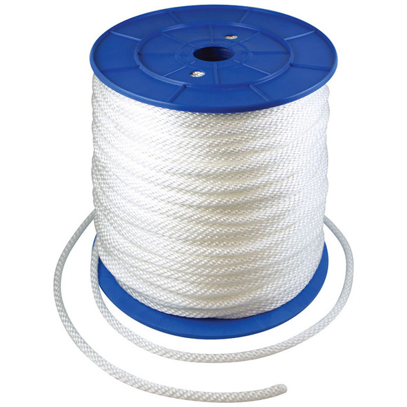 3/8 Inch Diameter x 600 Feet Length Spool White Flagpole Polypropylene Halyard - Flagpole Rope
