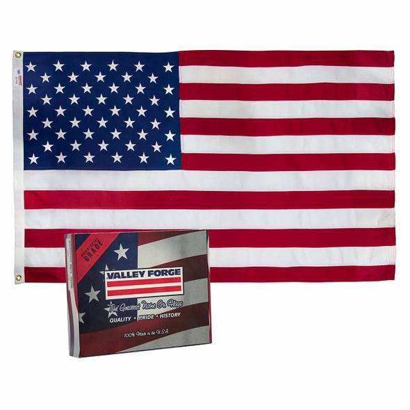 Koralex II 5'x9.5' Spun Polyester U.S. Flag By Valley Forge Flag 59311000II