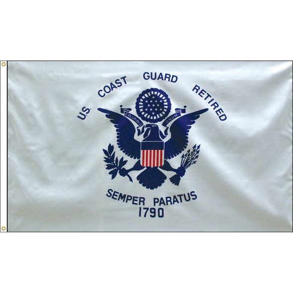 Retired Coast Guard 3x5 Feet Flag Endura-Poly 070190