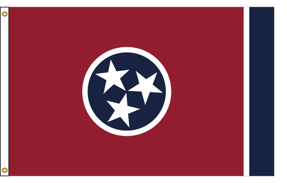 Tennessee 3'x5' Nylon State Flag 3ftx5ft