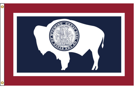Wyoming 3'x5' Nylon State Flag 3ftx5ft