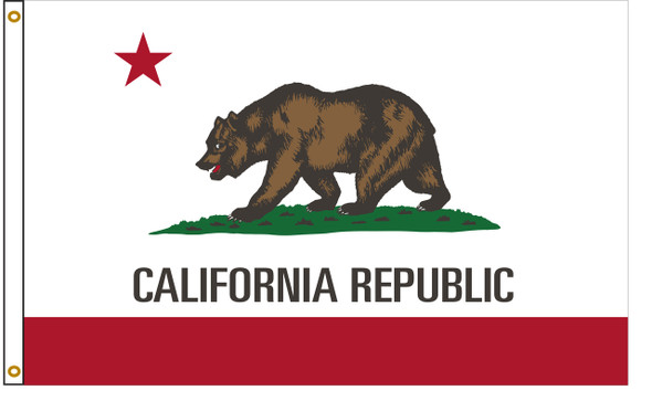 California 4'x6' Nylon State Flag 4ftx6ft