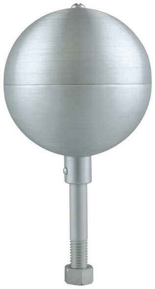 "10"" Inch Clear Aluminum Ball Flagpole Ornament"