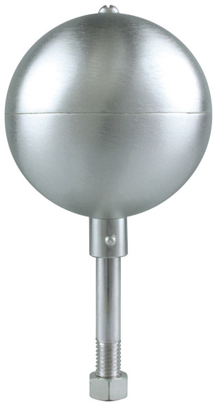 "12"" Inch Stain Aluminum Ball Flagpole Ornament"