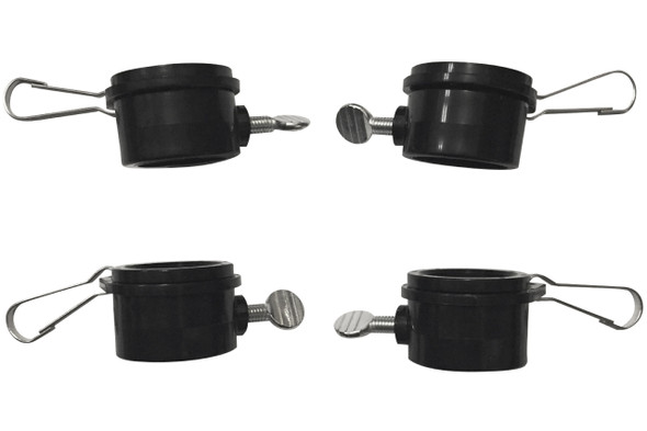 "1 Inch Black Rotating Flag Mounting Rings Fits On A Standard 1"" Diameter Flag Pole (Qty 4, 1 Inch Black)"