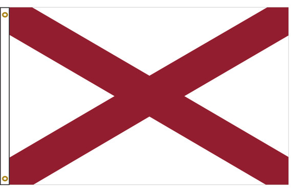 Alabama 5'x8' Nylon State Flag 5ftx8ft
