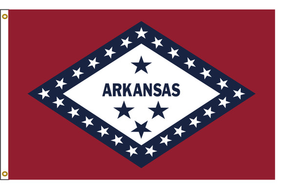 Arkansas 5'x8' Nylon State Flag 5ftx8ft