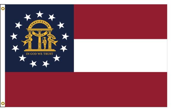 Georgia 5'x8' Nylon State Flag 5ftx8ft