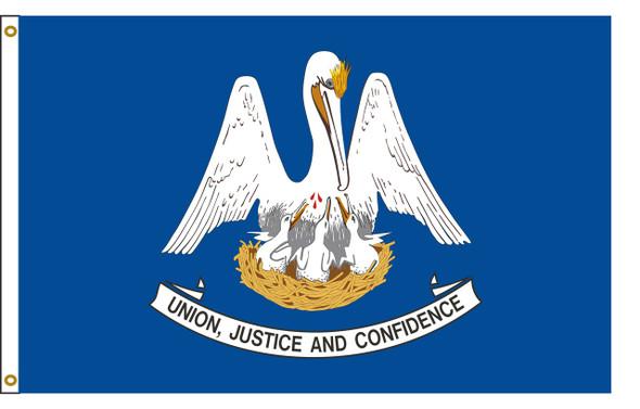 Louisiana 5'x8' Nylon State Flag 5ftx8ft