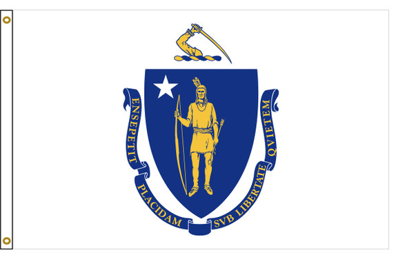 Massachusetts 5'x8' Nylon State Flag 5ftx8ft