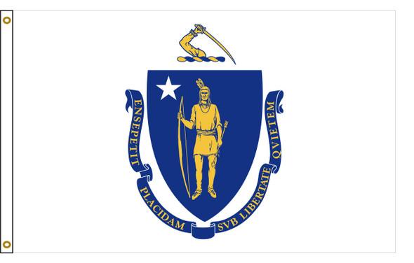 Massachusetts 5'x8' Nylon State Flag 5ftx8ft