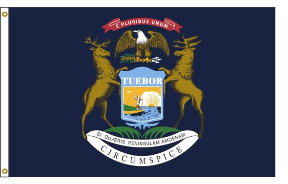 Michigan 5'x8' Nylon State Flag 5ftx8ft