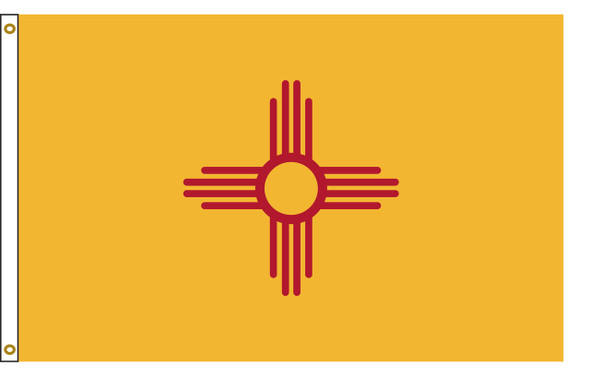 New Mexico 5'x8' Nylon State Flag 5ftx8ft