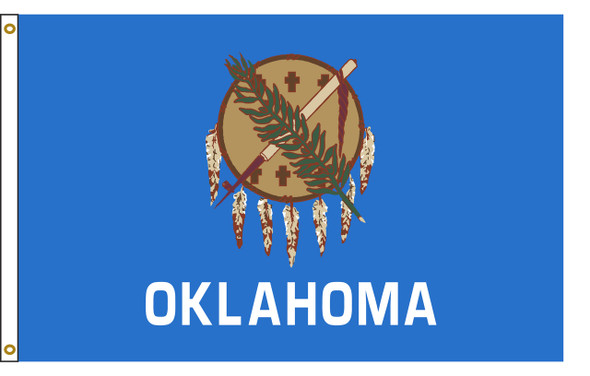 Oklahoma 5'x8' Nylon State Flag 5ftx8ft