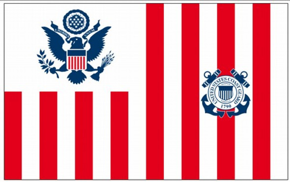 Perma-Nyl 60x96 Inch Nylon U.S. Coast Guard Ensign Size 3