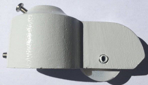"Painted Gloss White 2"" Cast Aluminum External Halyard 2 Inch Flagpole Truck"