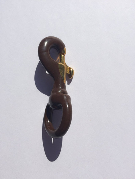 Brown Rubber Coated Brass Swivel Snap