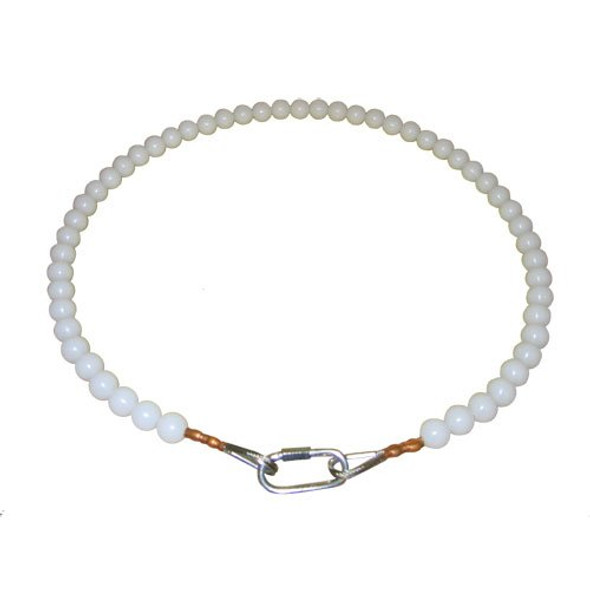 18 Inch Beaded Retainer Ring White