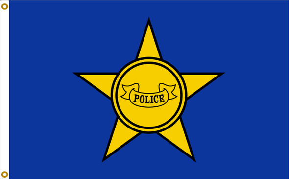 Police Department Flag 3x5