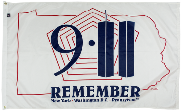 911 Remember 3ftx5ft Nylon Flag 3x5 Made in USA 3'x5'