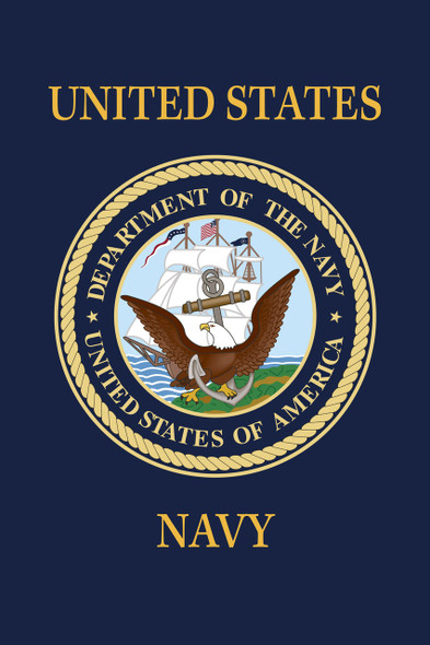 US Navy 18inx12in Nylon Garden Flag