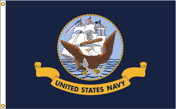 US Navy 8ftx12ft Nylon Flag