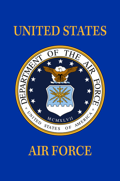 US Air Force 18inx12in Nylon Garden Flag