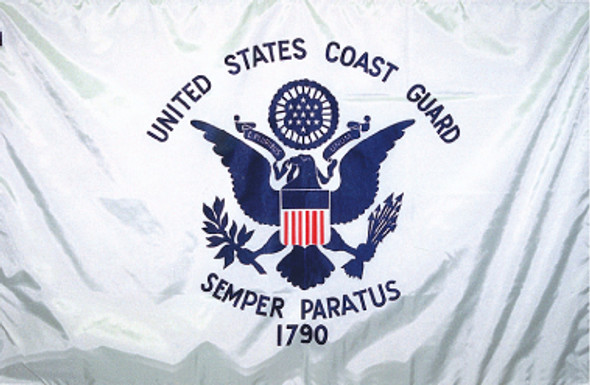 US Coast Guard 8ftx12ft Nylon Flag