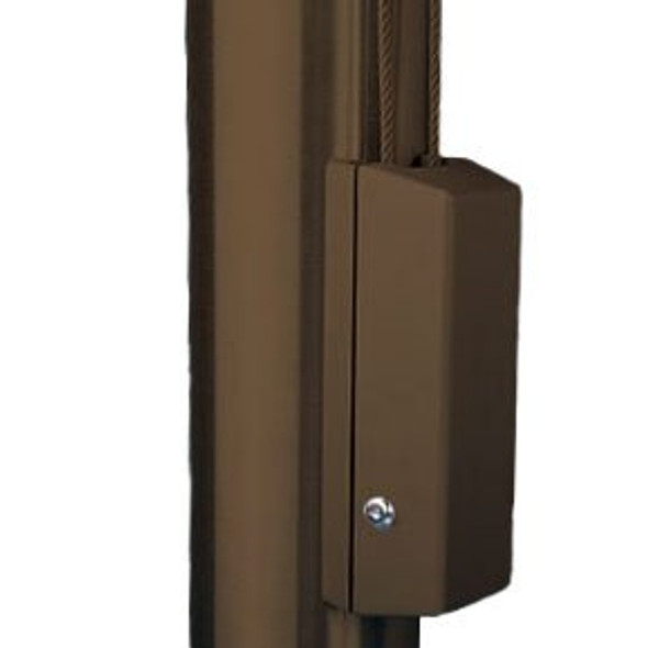 """Bronze #313 Cleat Cover Box With Cylinder Lock Fits 4""""-12"""" Pole Diameter"""