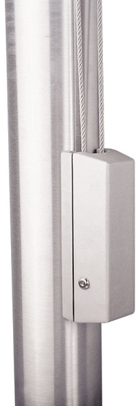 "White Cleat Cover Box With Cylinder Lock Fits 4""-12"" Pole Diameter"