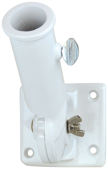 1 Inch White Painted Aluminum Adjustable Flag Pole Bracket