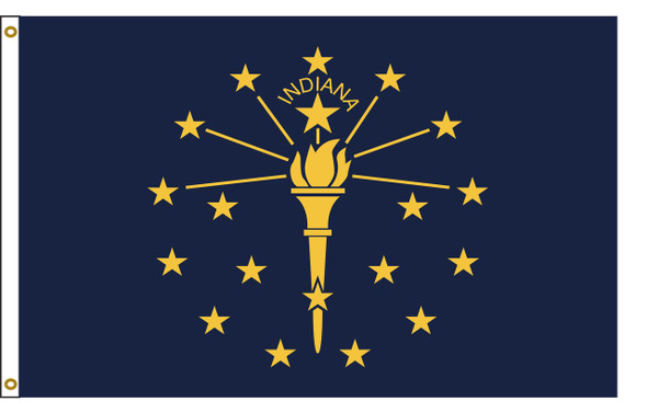 Indiana 6'x10' Nylon State Flag 6ftx10ft