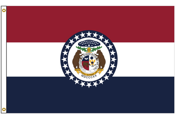 Missouri 6'x10' Nylon State Flag 6ftx10ft