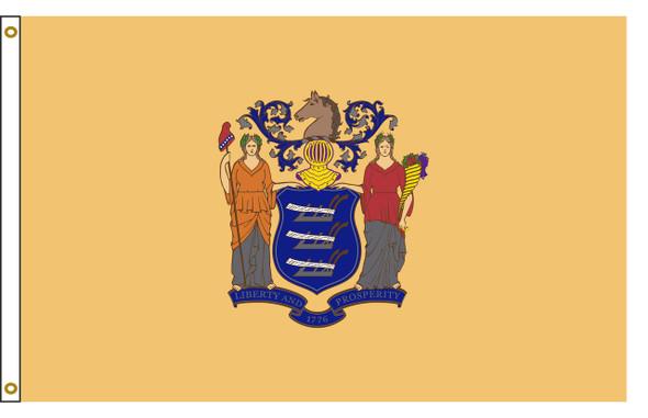 New Jersey 6'x10' Nylon State Flag 6ftx10ft