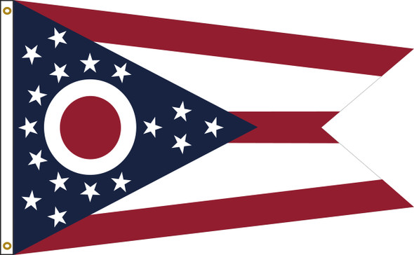 Ohio 6'x10' Nylon State Flag 6ftx10ft