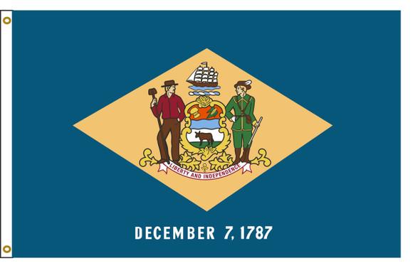 Delaware 8'x12' Nylon State Flag 8ftx12ft