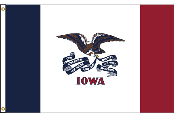 Iowa 8'x12' Nylon State Flag 8ftx12ft