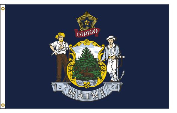 Maine 8'x12' Nylon State Flag 8ftx12ft