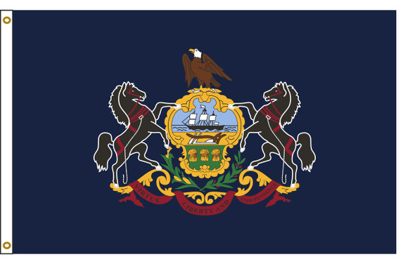 Pennsylvania  8'x12' Nylon State Flag 8ftx12ft