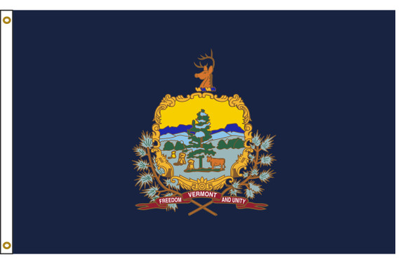 Vermont 8'x12' Nylon State Flag 8ftx12ft
