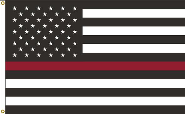 Thin Red Line US American 2ftx3ft Nylon Flag