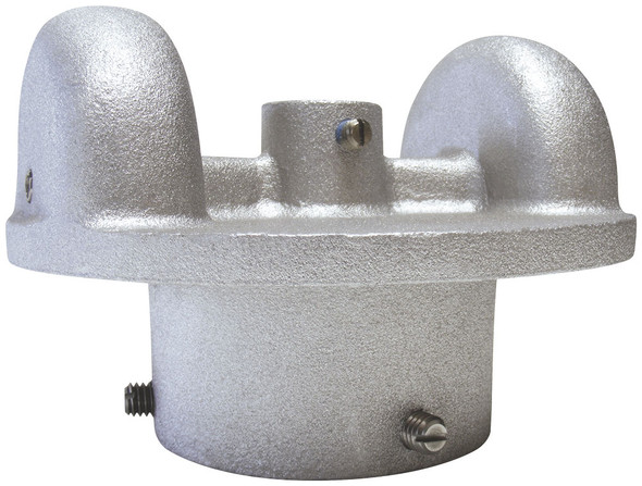 2-3/8 Inch Silver Cast Aluminum External Halyard Stationary Double Pulley Flagpole Truck ST-32 Series