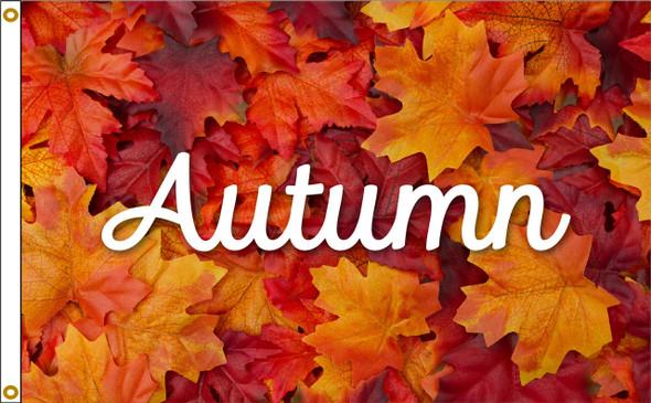 Autumn Leaves 3ftx5ft Nylon Flag