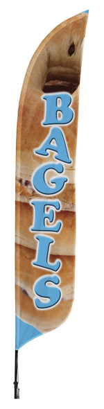 Bagels Blade Flag 2ft x 11ft Nylon