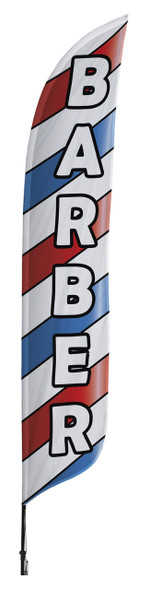 Barber Blade Flag 2ft x 11ft Nylon