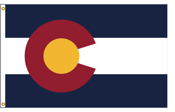 Colorado 3'x5' Nylon State Flag 3ftx5ft