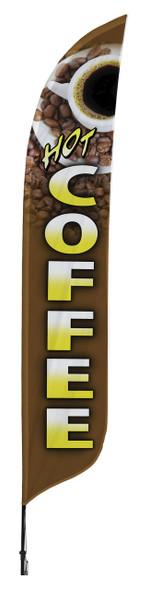 Coffee Blade Flag 2ft x 11ft Nylon
